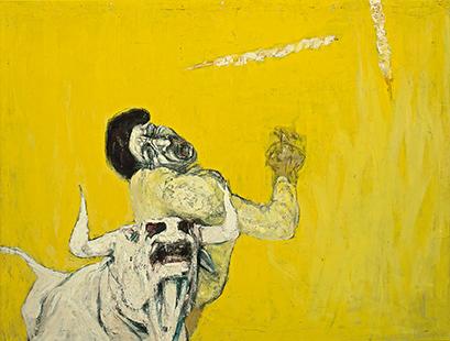 Bullfight  1956-7, 122 x 153 cm, oil on canvas
