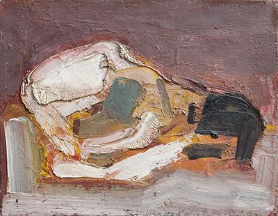 Bird's Skull  1952, 25 x 32 cm, oil on board