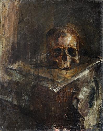 Skull  1953, 51 x 41 cm, oil on canvas