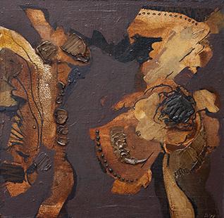 Jiving Dance  1961-2, 20 x 20 cm, oil on board