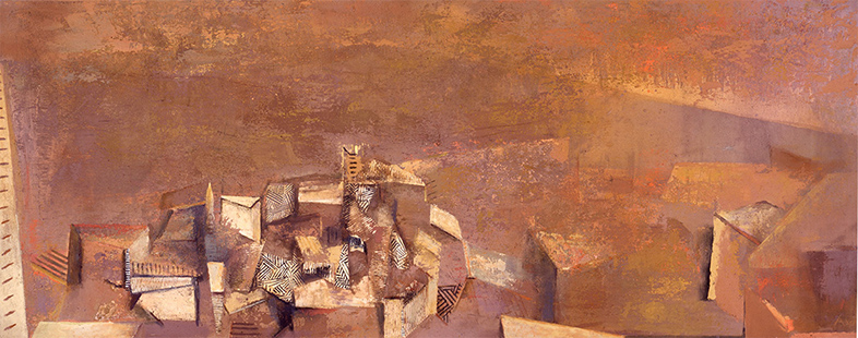 Landscape II  1990-91, 118 x 305 cm