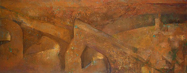Puente de Congosto  1989-2016, 120 x 305 cm