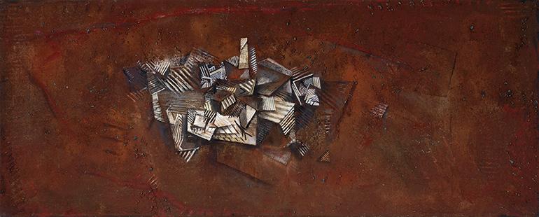 Pueblo I  1987-2014, 122 x 305 cm