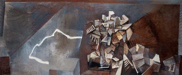 Pueblo II  1987-2014, 168 x 305 cm