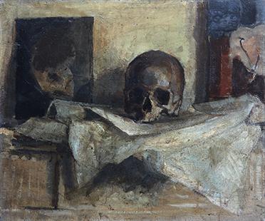 Skull I  1953, 51 x 61 cm, oil on canvas