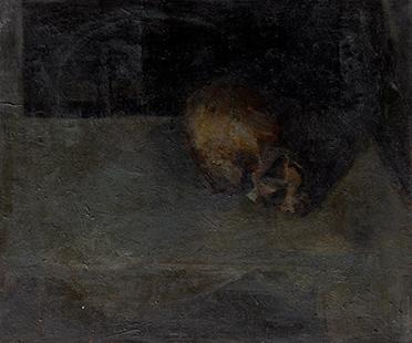 Skull III  1953, 61 x 51 cm 1953, oil on canvas