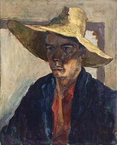 Self Portrait  1950, 51 x 41 cm