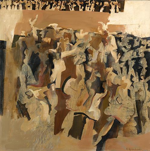 Dancers Brown  1963-4, 122 x 122 cm