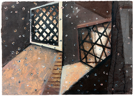 Mirrored Interior With Dust Particles II  1993-4, 31 x 43 cm, work on paper