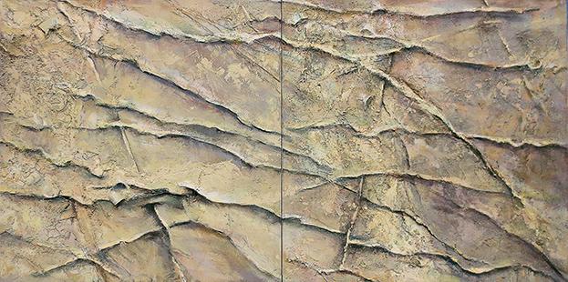 Rippled Shallows  1998-2009, 107 x 214 cm