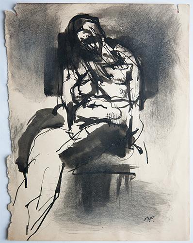 Asleep In The Chair  1959, 23 x 18 cm