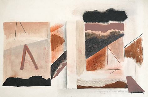 Still Searching For A Horizon  1974-5, 55 x 75 cm