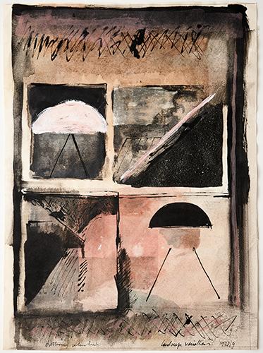 Landscape Variations  1978-9, 49 x 35 cm