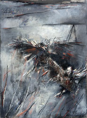 Two Startled Birds I  1995, 133 x 100 cm