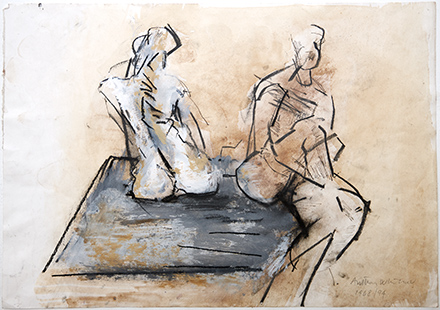 Two Posing Models Revisted  1968-1995, 29.5 x 42 cm