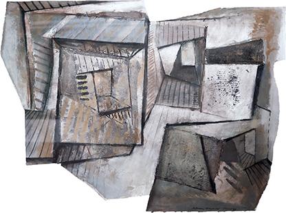 Fractured Interior  1989-93, 94 x 126 cm