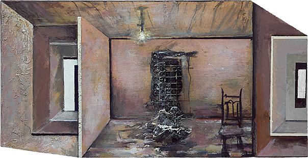 Interior With Figure  2004-8, 34 x 67 cm