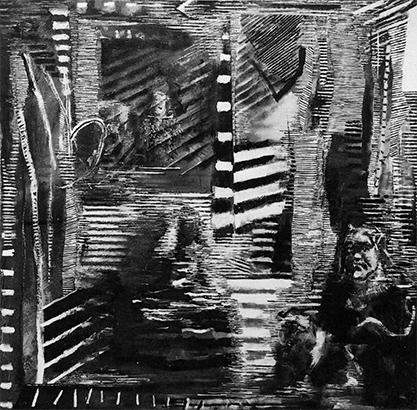 Reflections III  1984-5, 214 x 214 cm