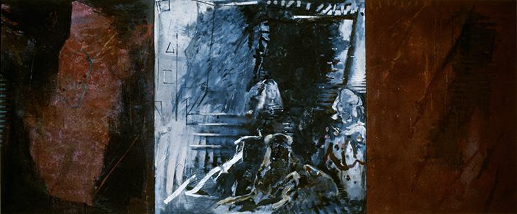 Margarita Maria Barbola And Dog  1985-6, 213 x 508 cm