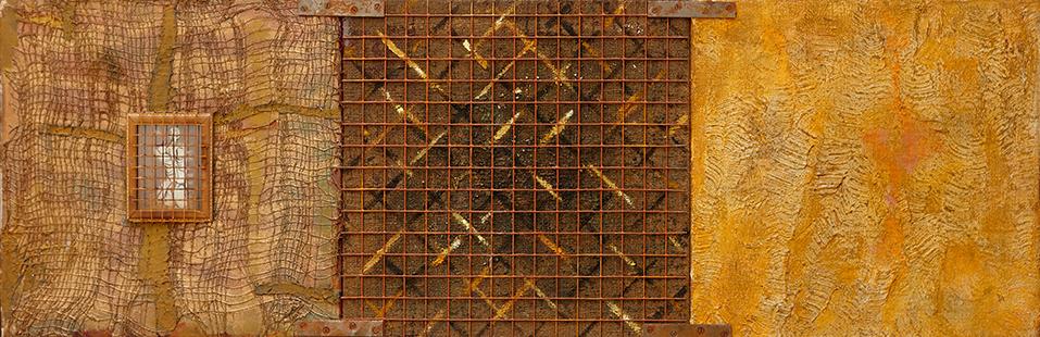 Gilt Cage  1996-7, 41 x 122 cm