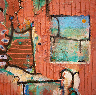 Holiday Bed And Window  1998-2015, 35 x 35 cm