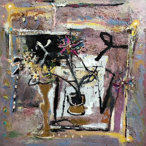 Flower Piece  1987-89, 101 x 101 cm