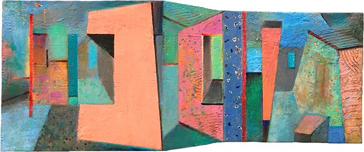Shaped Interior III  1999-2018, 40 x 90 cm