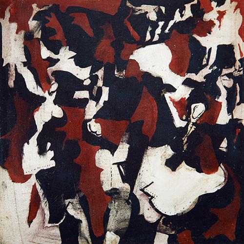 Dancer I  1963, 41 x 41 cm, oil on board