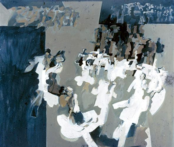 Dance  1964, 123 x 133 cm, oil on board