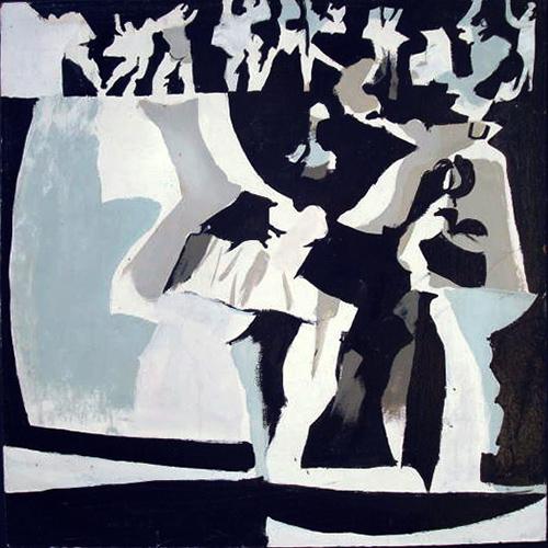 Dancers VIII  1964, 40 x 40 cm, oil on board