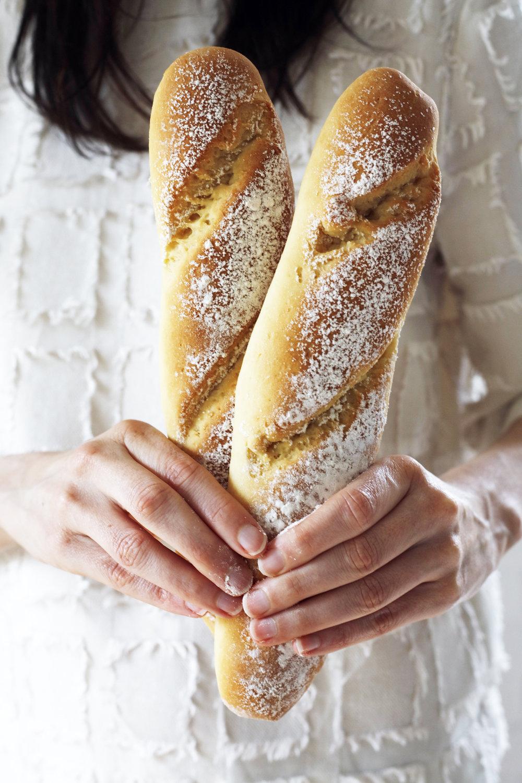 vegan and gluten free baguette Food Bandits