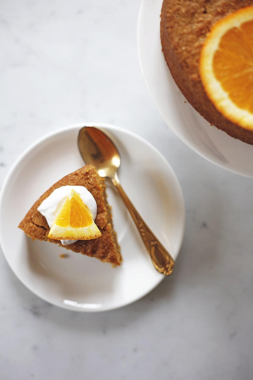 vegan orange polenta cake food bandits