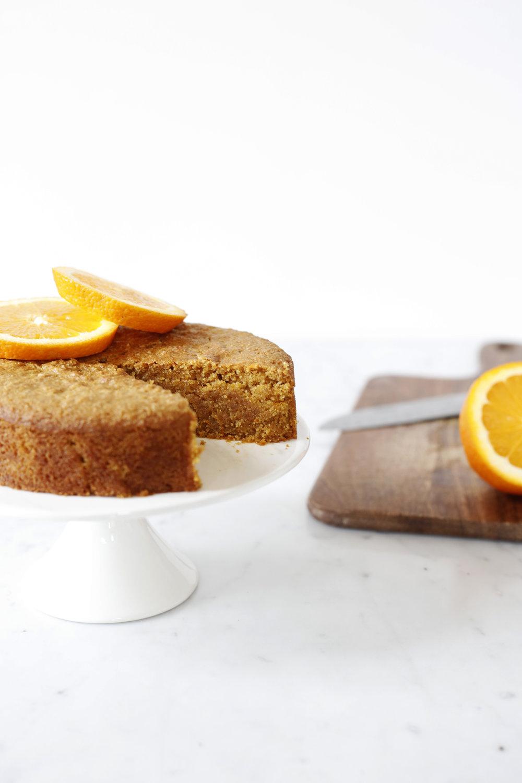 vegan and gf orange polenta cake Food Bandits