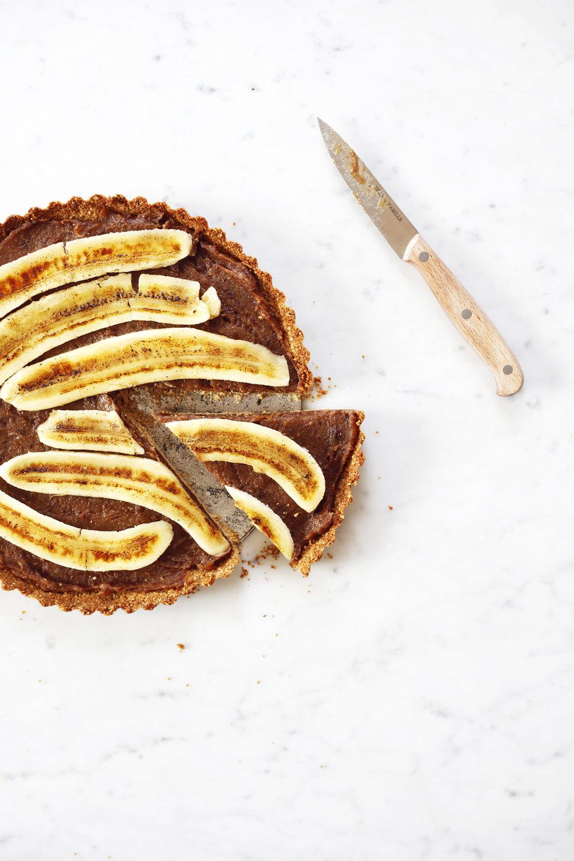 vegan and gluten free banoffee pie