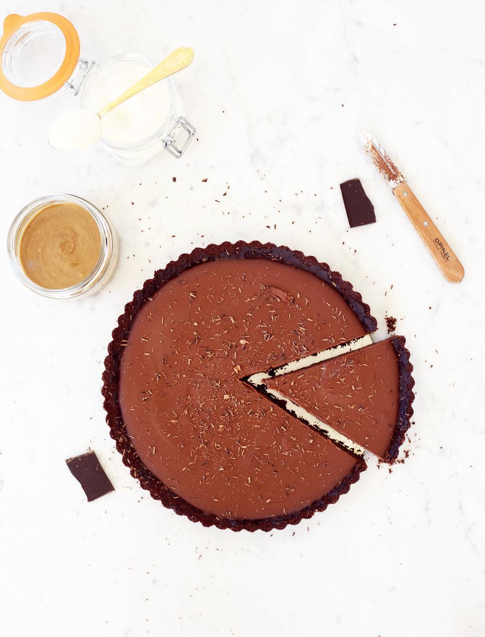 chocolate tahini pie food bandits