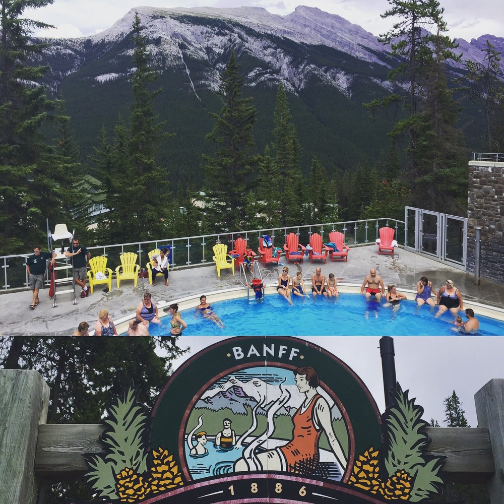 The view from Upper Banff Hot Springs. It's run by the Parks and only $7 to enter!