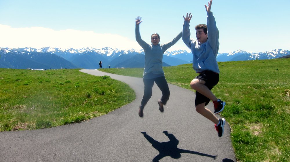 Feeling good at Hurricane Ridge.