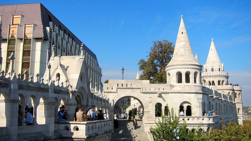 The castle in Budapest.