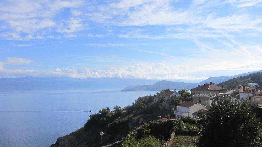 Viewpoint on the island of Krk in Croatia.