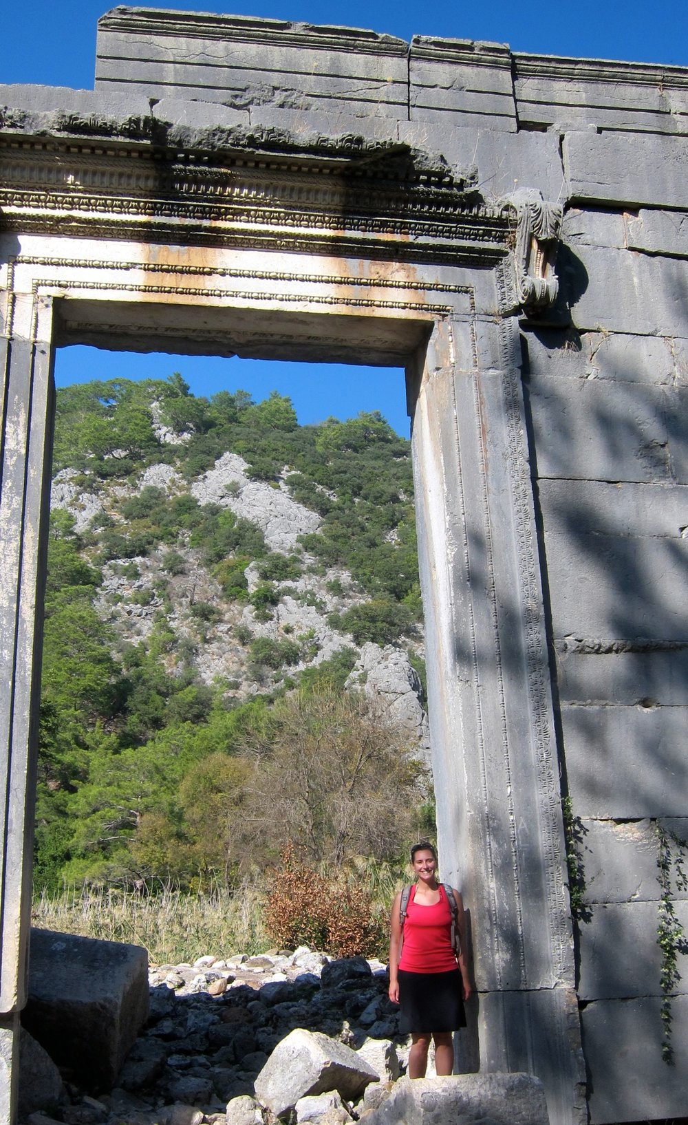 The huge door to Marcus's temple in Olympos.