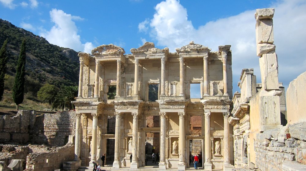 The Library of Celcus, one of the most remarkable sites in Ephesus.