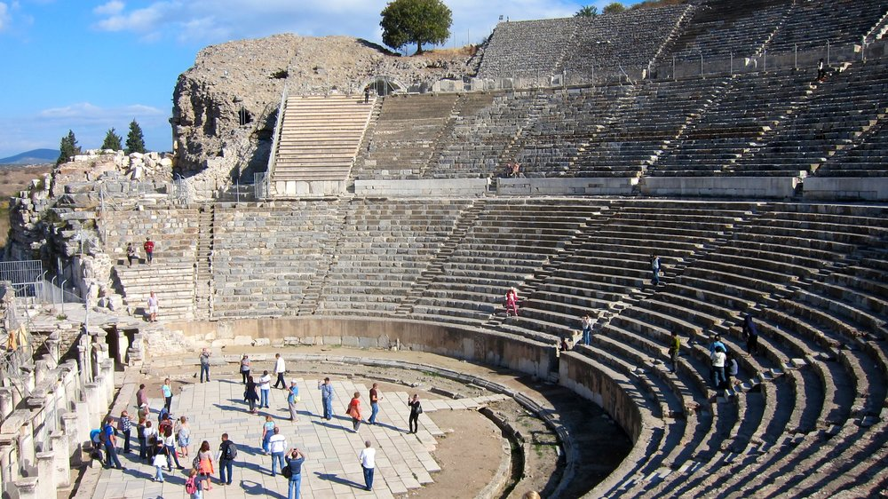 The great theater in Ephesus.