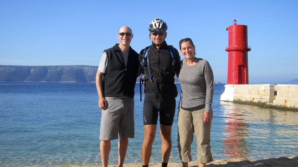 Us with Bojan on our last bike ride.