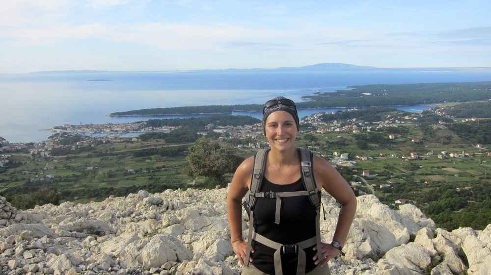 Hiking on the island of Rab, to its highest point.