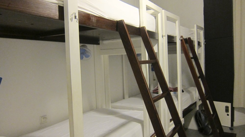 Two bunks to ourselves? Woo hoo!