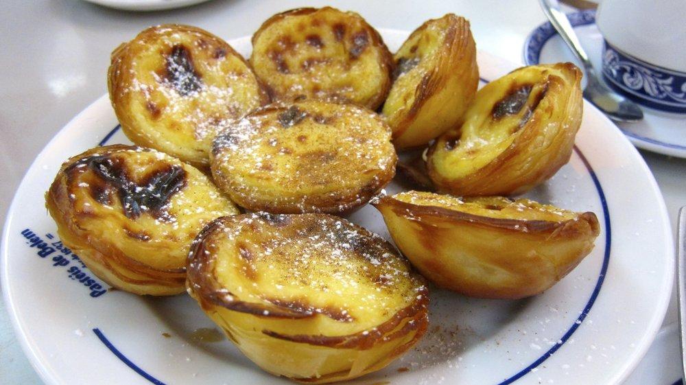 To die for pastel de natas at Pasteis de Belem in Lisbon.