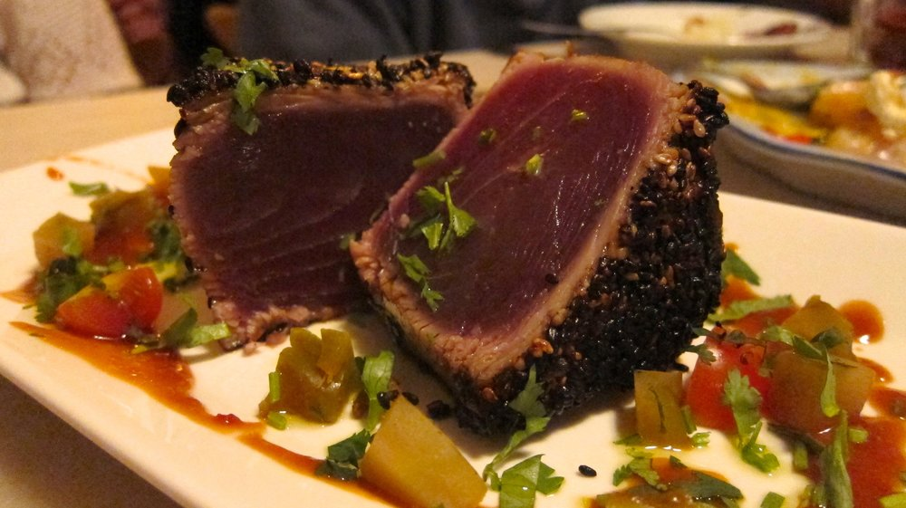 A perfectly made tuna steak at Taberna da Rua das Flores in Lisbon. One of the best meals I have eaten in a long time.