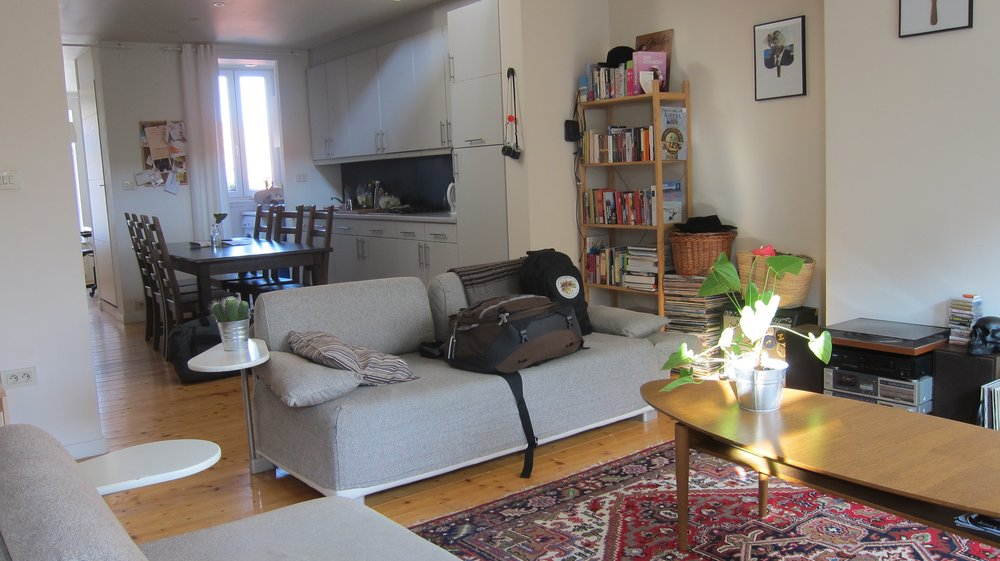 A spacious flat we rented in Ghent, Belgium.