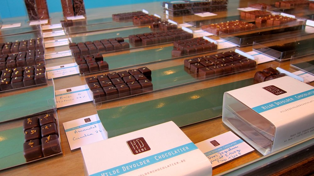 The wide selection of chocolates.