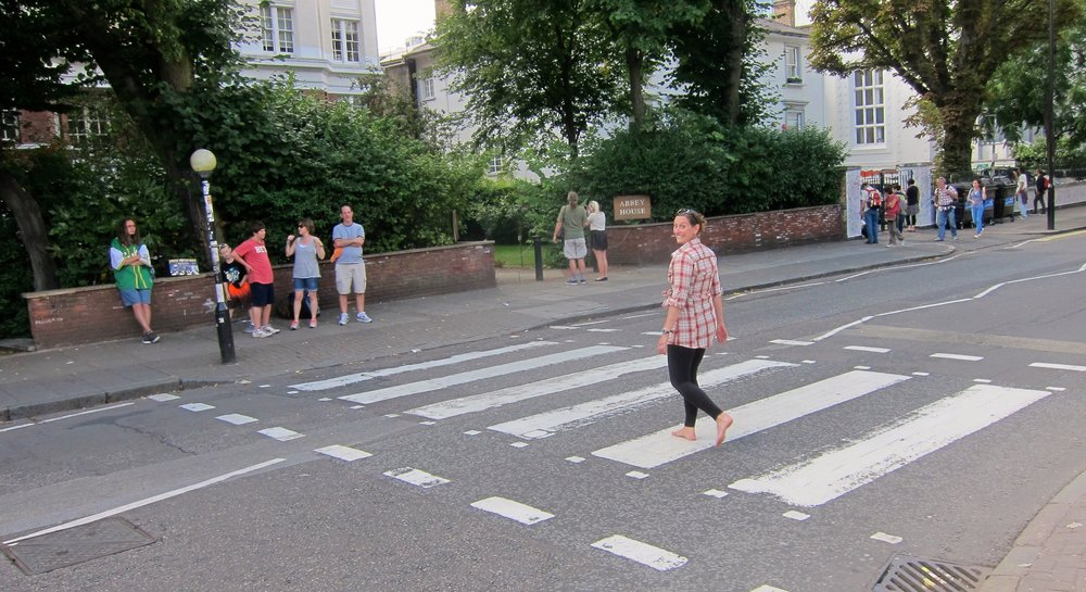 Walking Abbey Road barefoot like Paul McCartney.